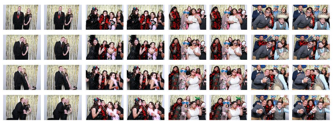 Wedding Photo booth film strip Atlanta